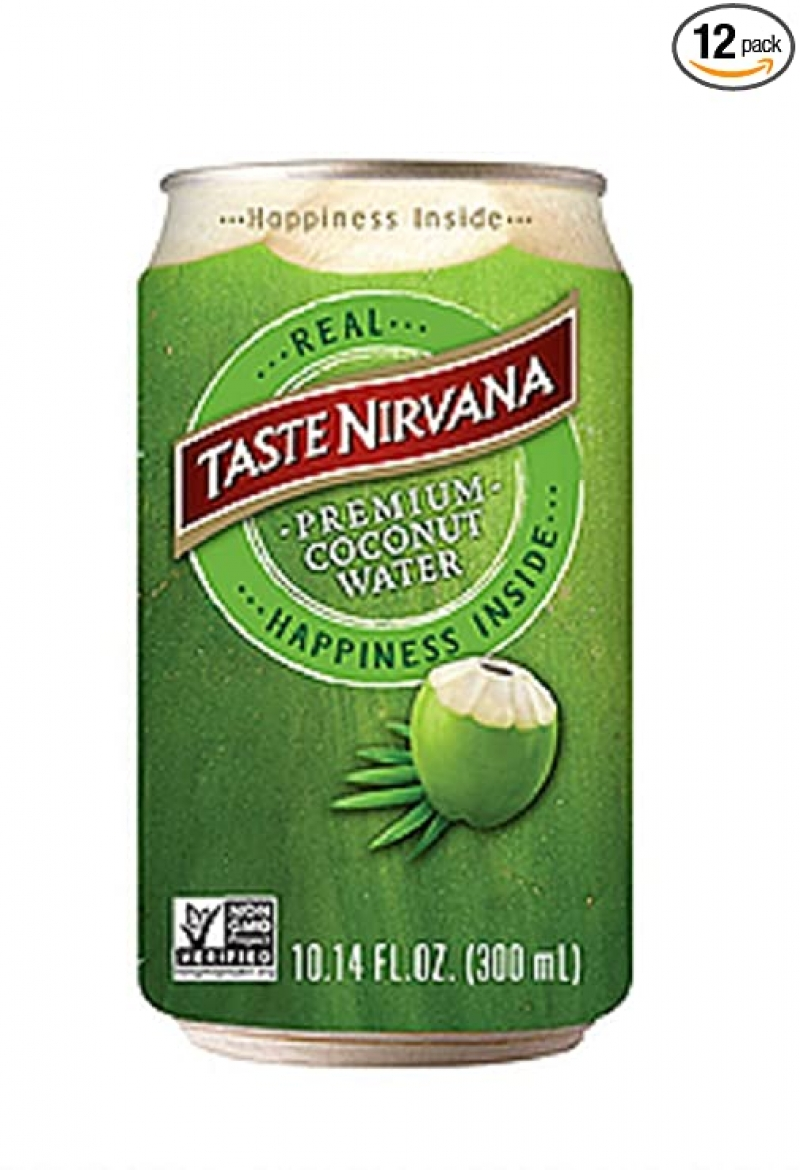 ihocon: Taste Nirvana Real Coconut Water,  10.14 Ounce Cans (Pack of 12) 椰子水