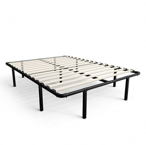 ihocon: Zinus Cynthia 14 Inch MyEuro SmartBase Wooden Slat Mattress Foundation Platform Bed Box (Full) 床架