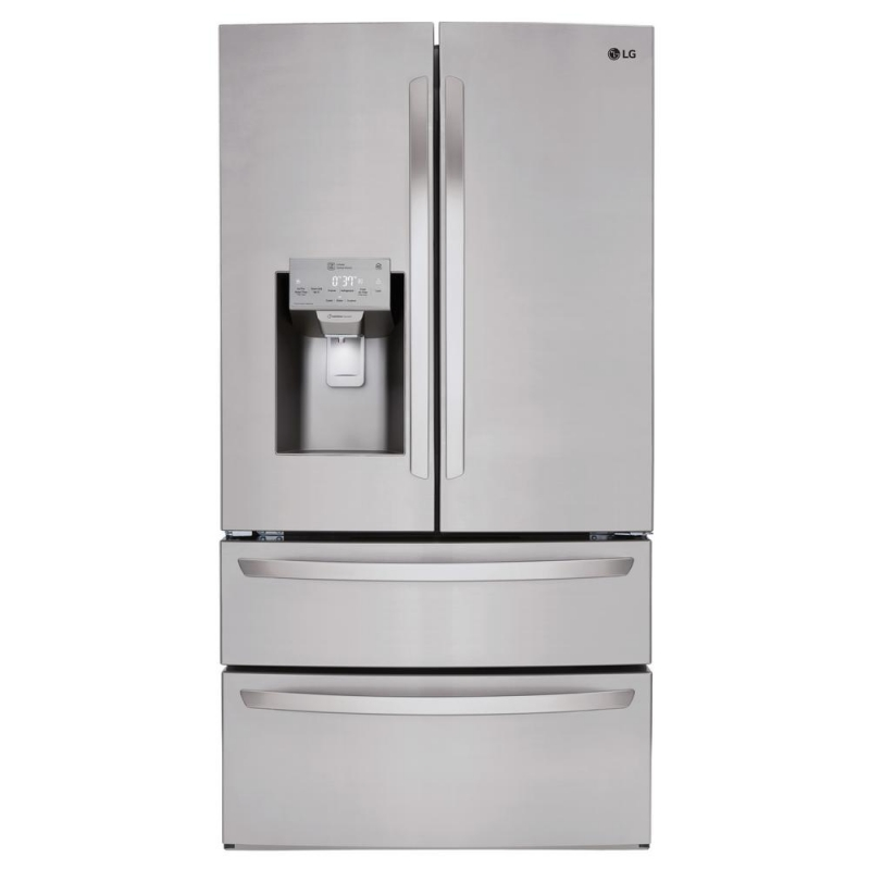 ihocon: LG Electronics 27.8 cu. ft. 4 Door French Door Smart Refrigerator with Wi-Fi Enabled 不銹鋼法式門智能冰箱
