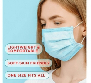 ihocon: Disposable Non-Medical Face Masks(Pack of 50) 一次性口罩