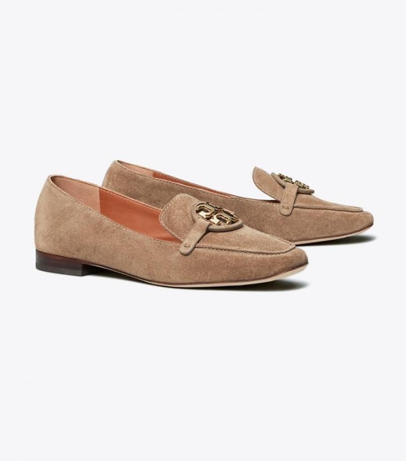 ihocon: Tory Burch Miller Metal-Logo Loafer, Suede 女鞋