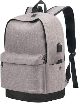 ihocon: Vancropak Travel 15.6 Inch Laptop School Backpack with USB Charging Port 電腦背包