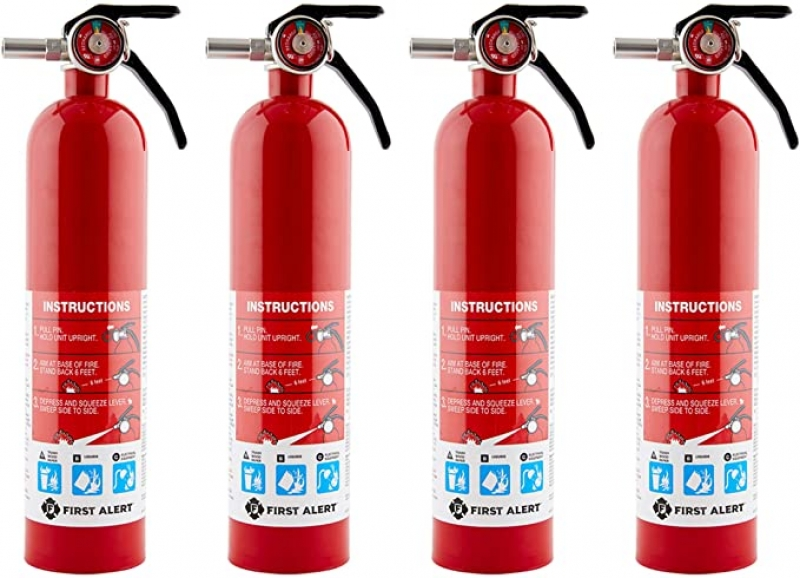 ihocon: First Alert HOME1 Rechargeable Home Fire Extinguisher 4-Pack 家用滅火器