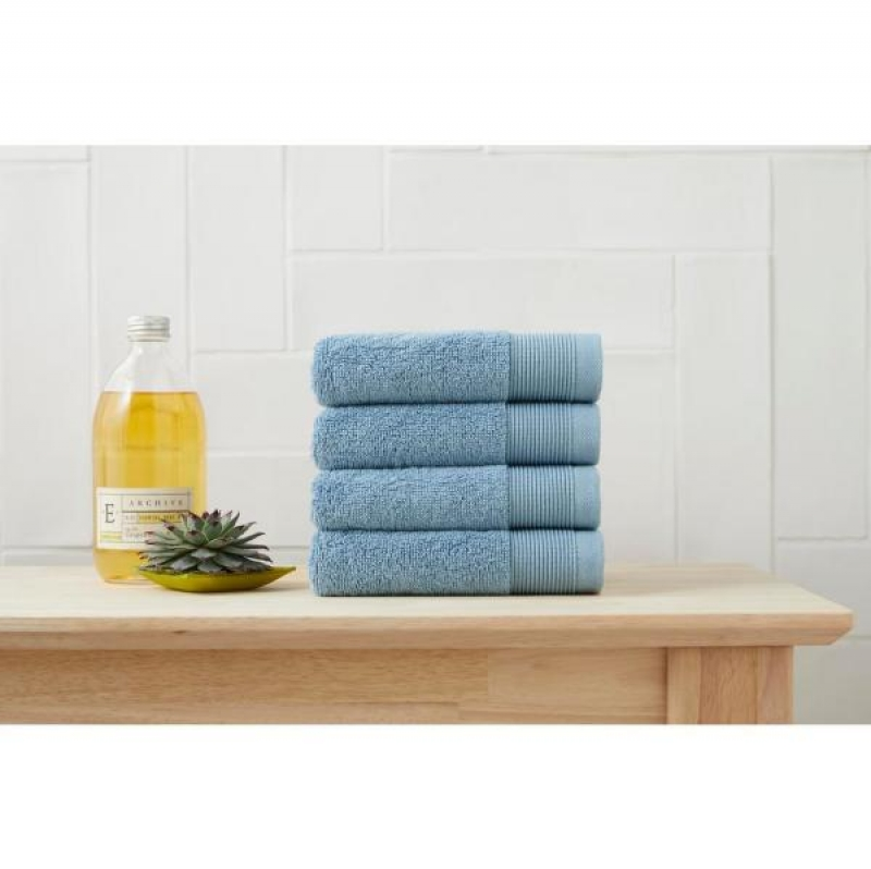 ihocon: StyleWell Performance Quick Dry Wash Cloth in Washed Denim (Set of 4)  毛巾