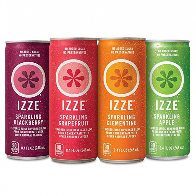 ihocon: IZZE Sparkling Juice, 4 Flavor Variety Pack, 8.4 Fl Oz (24 Count) 起泡果汁