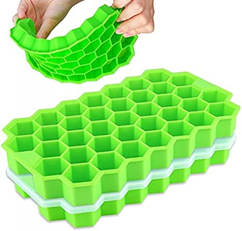 ihocon: Arti-Cipes 2 Pack Food Grade Silica Gel Flexible 74 Ice Trays with Lid 含蓋矽膠製冰盒
