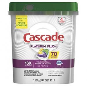 Cascade Platinum Plus 洗碗機用洗碗劑 70粒 $13.04免運(原價$18.99)