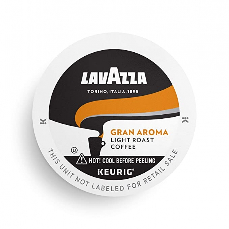 ihocon: Lavazza Gran Aroma Single-Serve Coffee K-Cup Pods for Keurig Brewer, Light Roast, 16-Count 咖啡膠囊