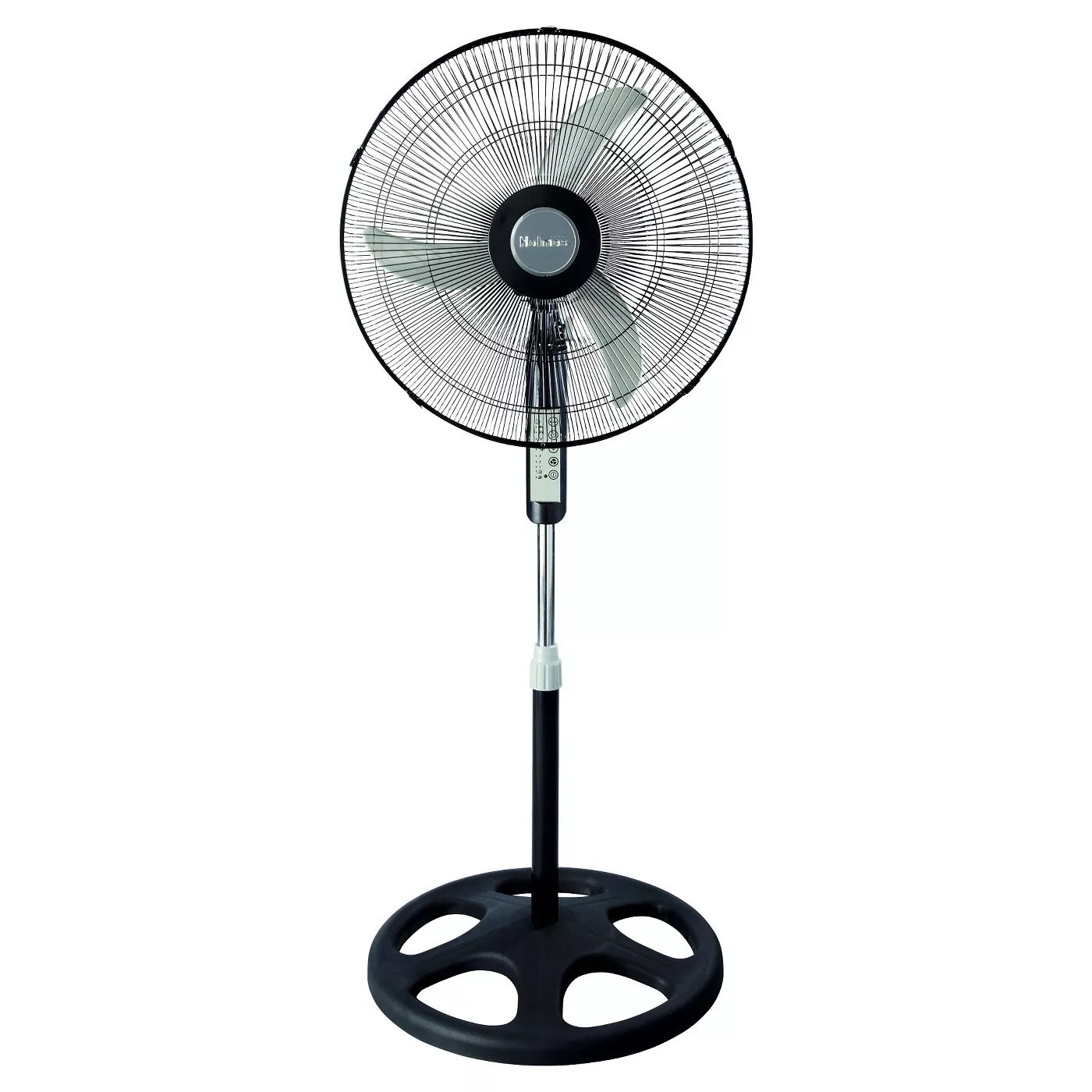 ihocon: Holmes 18吋 Oscillating Stand Fan with Remote Control Black 立式遙控風扇