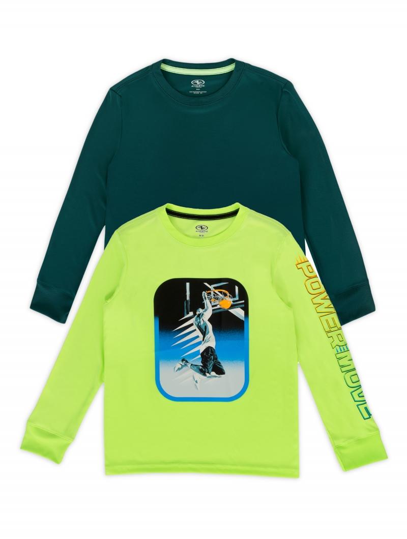ihocon: Athletic Works Boys Graphic & Solid Long Sleeve 2-Pack 男童長袖衫-多色可選