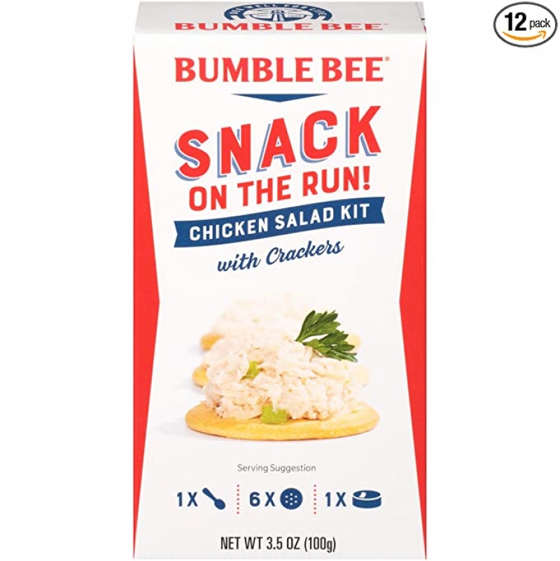ihocon: BUMBLE BEE Snack on the Run! Chicken Salad with Crackers Kit, 3.5 Ounce Kit (Pack of 12)雞肉沙拉配餅乾