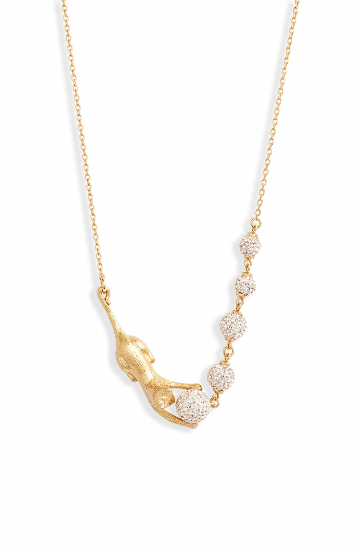 ihocon: KATE SPADE NEW YORK house cat pavé necklace貓咪項鍊