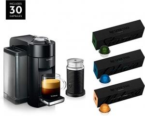 ihocon: De'Longhi Nespresso Vertuo Coffee and Espresso Machine Bundle義式膠囊咖啡機含Aeroccino奶泡機及咖啡膠囊30個 - 2色可選