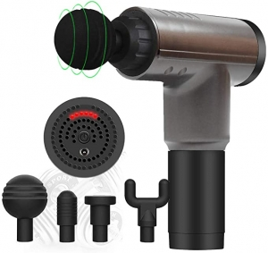 ihocon: Niliyou Deep Tissue Massage Gun with 4 Replacement Heads 深層按摩槍