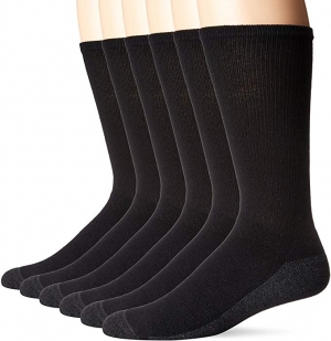 ihocon: Hanes Men's ComfortBlend Max Cushion Crew Socks 6-Pack 男襪