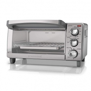 ihocon: BLACK+DECKER  4-Slice Toaster Oven with Natural Convection, Stainless Steel小烤箱