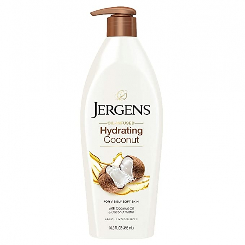 ihocon: Jergens Hydrating Coconut Moisturizing Body Lotion, 16.8 Ounce 椰子油保濕身體乳