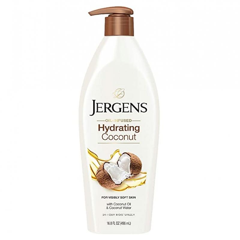 ihocon: Jergens Hydrating Coconut Moisturizing Body Lotion, 16.8 Ounce 椰子油保濕身體乳