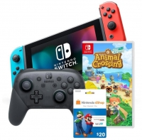 ihocon: Nintendo Switch with Neon Joy Cons Starter Bundle