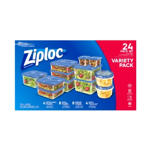 ihocon: Ziploc Variety Pack Containers and lids, 24 count 食物保鮮盒
