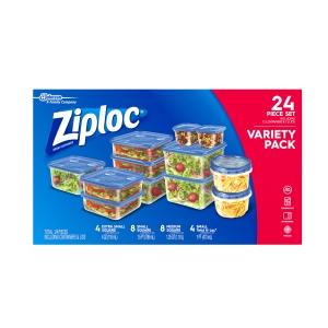 ihocon: Ziploc Variety Pack Containers and lids, 24 count 食物保鮮盒