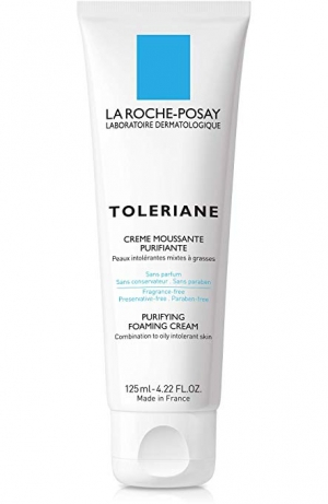 ihocon: La Roche-Posay Toleriane Purifying Foaming Cream Cleanser, 4.22 Fl. Oz 理膚寶水泡沫潔面乳