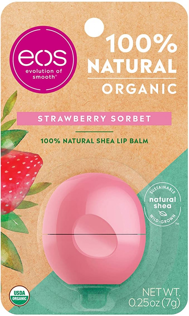 ihocon: eos USDA Organic Lip Balm - Strawberry Sorbet, 0.25 oz  有機潤唇膏