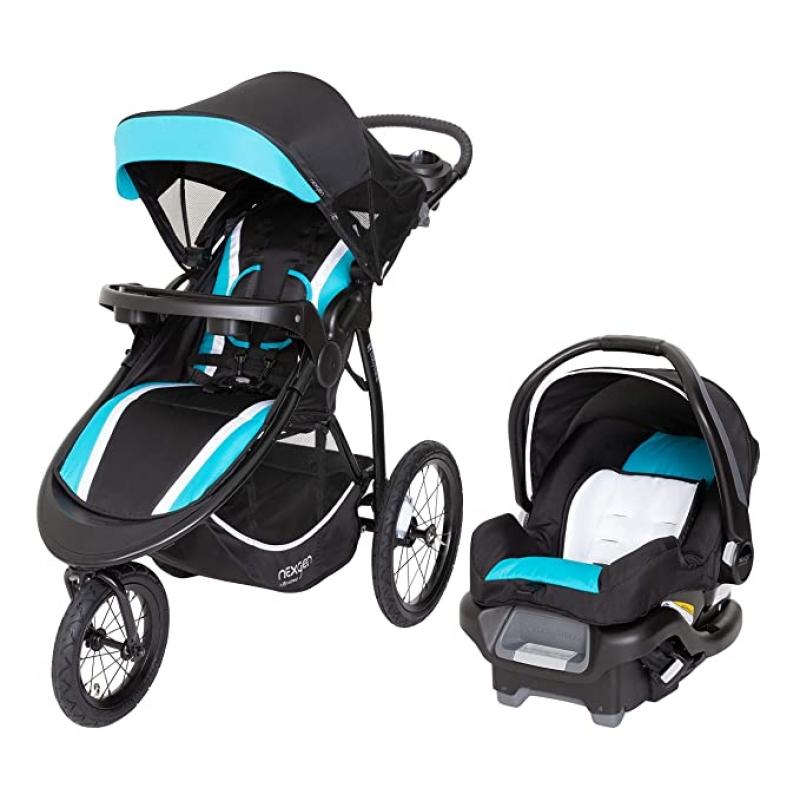 ihocon: NexGen Chaser Jogger Travel System, Vista 嬰兒慢跑推車及汽車座椅