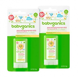 ihocon: Babyganics Sunscreen Stick SPF 50, .47oz Stick (Pack of 2) 防曬條