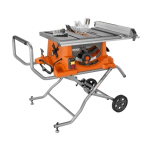 ihocon: RIDGID 15 Amp Corded 10 in. Heavy-Duty Portable Table Saw with Stand 便攜式台鋸,帶支架