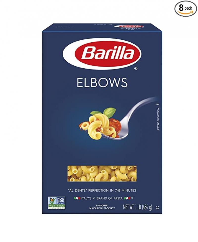 ihocon: Barilla Pasta, Elbows, 16 Ounce (Pack of 8) 義大利麵