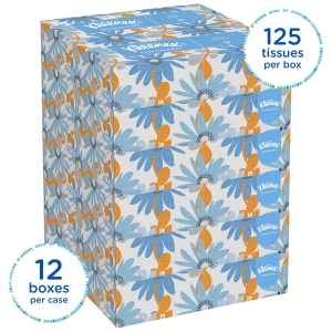 ihocon: Kleenex Professional Facial Tissue for Business,  Flat Tissue Boxes, 12 Boxes /125 Tissues 面紙