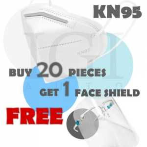 ihocon: 20pc KN95 Face Mask Cover Respirator 5 Layers BFE PFE 95% + FREE Face Shield