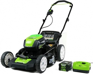 ihocon: Greenworks 2501202 Pro 21吋 Cordless Push Lawn Mower, includes 4Ah Battery and Charger 電動無線除草機, 含電池及充電器