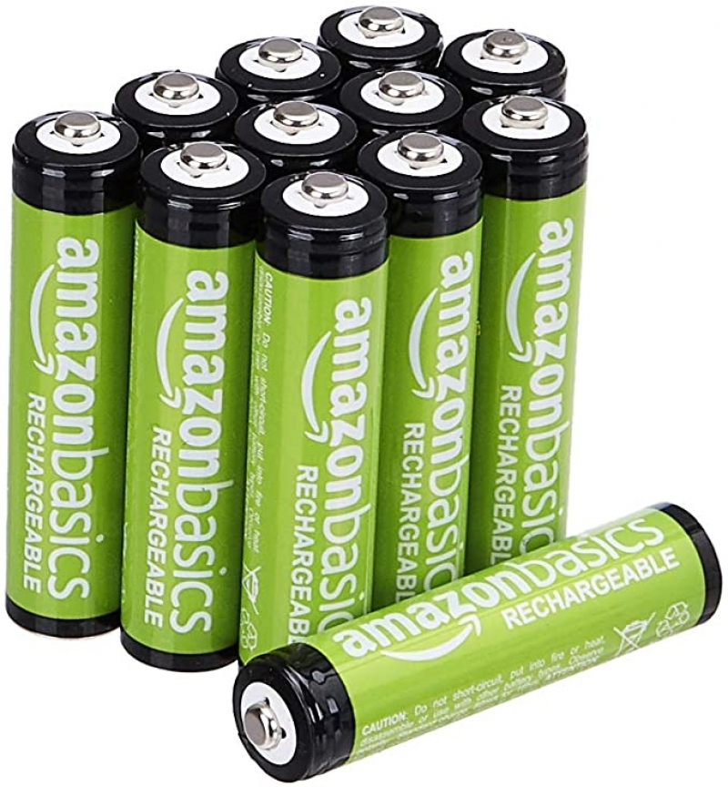 ihocon: Amazon Basics AAA Rechargeable Batteries (800 mAh), Pre-charged - Pack of 12   充電電池