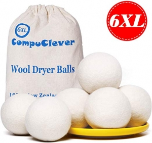 ihocon: Teemour 100% New Zealand Wool Dryer Balls 6-Pack XL新西蘭羊毛球