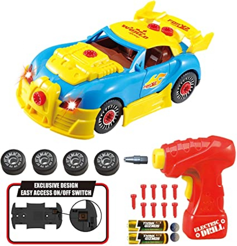 ihocon: [兒童玩具]Think Gizmos FBA New Take Apart Toy Racing Car Set 組裝賽車