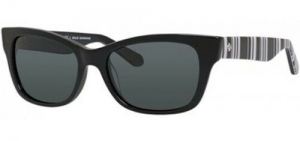 ihocon: Kate Spade Alora Polarized Women's Black Rounded Cat-Eye Sunglasses - 0QG9 RA 太陽鏡