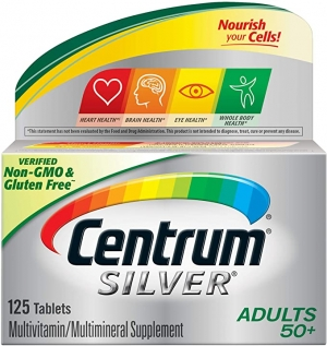 ihocon: Centrum Silver Adult (125 Count) Multivitamin / Multimineral Supplement Tablet, Vitamin D3, Age 50+ 銀寶善存綜合維他命