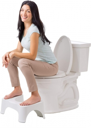 ihocon: Squatty Potty The Original Bathroom Toilet Stool, 7 height, White 馬桶凳