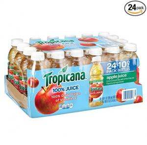 Tropicana 蘋果汁 24罐 $9.09免運(原價$12.98)