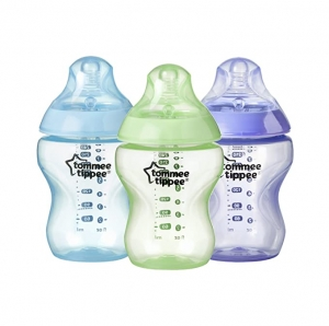 ihocon: Tommee Tippee Closer to Nature Baby Bottle, Anti-Colic, BPA-Free, 9 Ounce, 3 Count  嬰兒奶瓶