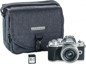 Olympus E-M10 Mark III 無鏡單反相機 + 14-42mm鏡頭 + 相機包 + 16GB記憶卡 $479.99免運(原價$799.99)