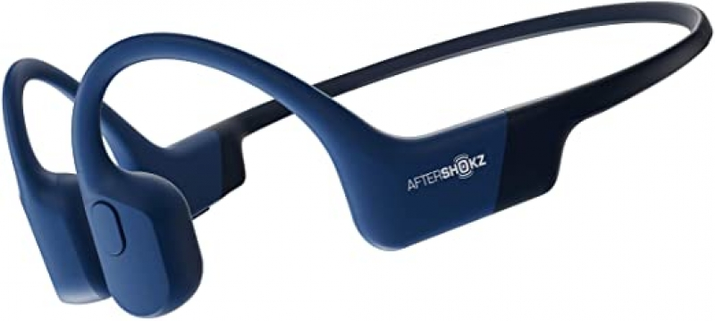 ihocon: Aftershokz Aeropex Blue Eclipse Bluetooth Wireless Open Ear Headphones 藍牙無線骨傳導耳機