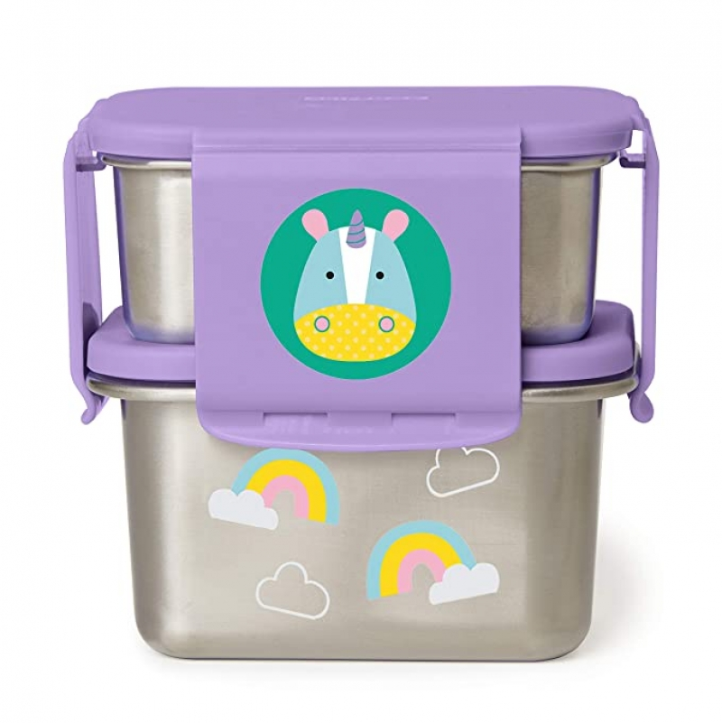 ihocon: Skip Hop Stainless Steel Toddler Lunch Kit, Unicorn  不銹鋼幼兒便當盒