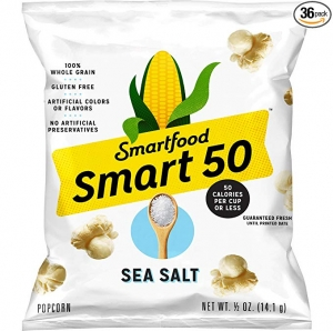 ihocon: Smart50 Popcorn, Sea Salt, 0.5oz Bags (Pack of 36)海鹽爆米花