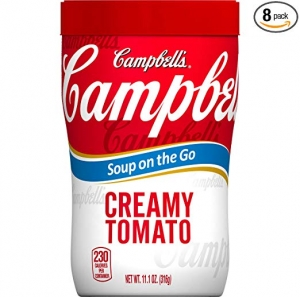 ihocon: Campbell's Soup on the Go, Creamy Tomato, 10.75 Ounce (Pack of 8) 即食番茄湯