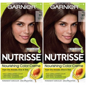ihocon: Garnier Hair Color Nutrisse Nourishing Creme, 30 Darkest Brown (Sweet Cola), 2 Count 染髮劑