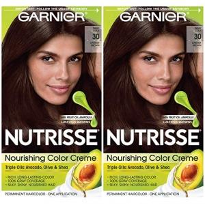 ihocon: Garnier Hair Color Nutrisse Nourishing Creme, 30 Darkest Brown (Sweet Cola), 2 Count 染髮劑