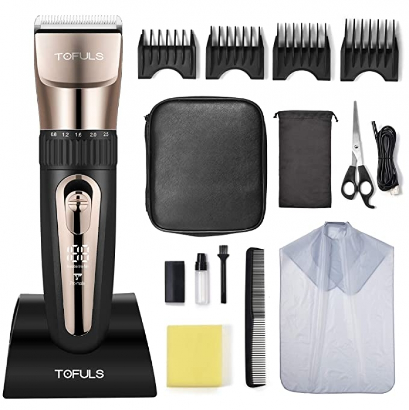 ihocon: TOFULS Cordless Rechargeable Hair Clippers 充電式電動理髮器